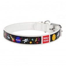 Collar Waudog Design Ошейник для собак Nasa белый  XS (18-24 cм)