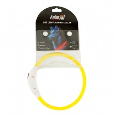Animall USB Led Flashing Collar Светящийся ошейник для собак 35 см >Цвет: Салатовый