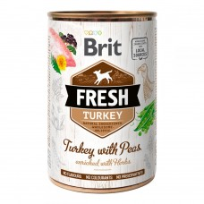 Brit Fresh Turkey with Peas Консервы для собак с индейкой и горохом Вес: 400 гр