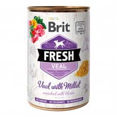 Brit Fresh Veal with Millet Консервы для собак с телятиной и пшеном Вес: 400 гр